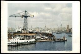 ÄLTERES FOTO HAMBURG HANS HARTZ HAFEN Kran Crane Grue Port Harbour Puerto 19,5 Cm X 13,7 Cm Bild Photo - Repro's