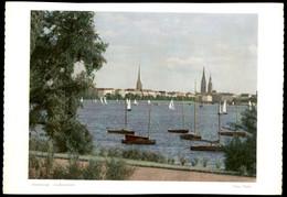ÄLTERES FOTO HAMBURG HANS HARTZ AUSSENALSTER Alster 19,5 Cm X 13,7 Cm Bild Photo - Repro's
