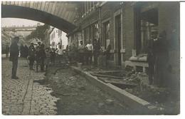 AYWAILLE  -  CARTE PHOTO INONDATIONS Du 27 Juillet 1913 - Rue Nicolas Lambercy - RARE - Aywaille