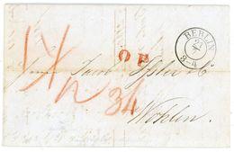 """""""O P"""" (Ost Preußen) Guter L 1 In Rot 1845 Transitbrief Aus Berlin In Die Schweiz - Deutschland"""