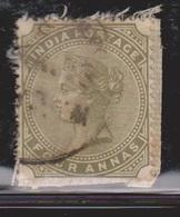 INDIA Scott # 42 Used  - Queen Victoria - India (...-1947)