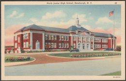 North Junior High School, Newburgh, New York, 1938 - Ruben Publishing Co Postcard - NY - New York