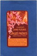 Carte Parfumée Parfum Sauzé 9,5 X 5,8 Publicité Publicitaire Nancy - Parfumkaarten