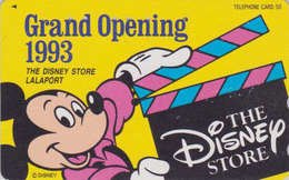 Télécarte Japon / 110-147386 - DISNEY STORE GO - MICKEY - LALAPORT 1993 - Japan Phonecard / 2000 EX - Disney