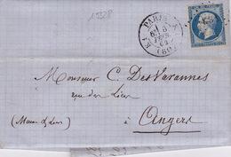 19328# NAPOLEON LETTRE Obl KS1 ROMAIN PARIS K1 (60) K1 1862 T17 - Marcophilie (Lettres)