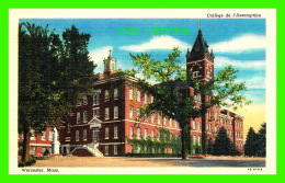 WORCESTER, MA - COOLÈGE DE L'ASSOMPTION - G.C. PRINCE & SON INC - - Worcester