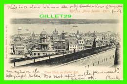HALIFAX, NOVA SCOTIA - TOWN CLOCK, ON CITY HILL - TRAVEL IN 1906 - HENRY HECHLER - - Halifax