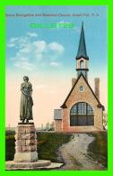GRAND PRÉ, NOVA SCOTIA - STATUE EVANGELINE & MEMORIAL CHURCH - F.M. BARNES - NOVELTY MANUFACTURING & ART CO LTD  - Nouvelle-Écosse