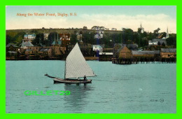 DIGBY, NOVA SCOTIA - ALONG THE WATER FRONT - ANIMATED WITH A SAILING SHIP  - - Nouvelle-Écosse