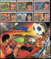 Soccer Football Guinea Bissau #623/8 + Bl 222 1982 World Cup Spain MNH ** - Coppa Del Mondo
