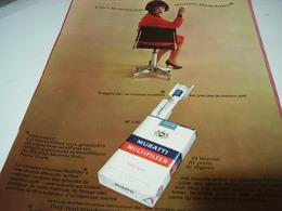 ANCIENNE PUBLICITE CIGARETTES MURATTI MULTIFILTER 1965 - Raucherutensilien (ausser Tabak)