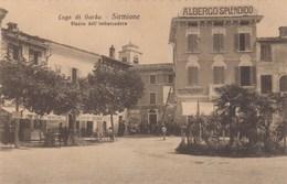 Sirmione-brescia-lago Di Garda-la Piazza Dell'imbarcadero-albergo=splendid=cartolina Anno 19201930 - Brescia