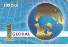 Denmark, DK-PRE-GL1-0002, Gold Global - World, 2 Scans. - Denmark