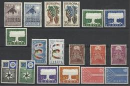 1957 EUROPA CEPT EUROPE  ANNATA  YEAR Di 18 Valori MNH** SOGGETTI DIVERSI - 1957