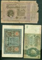 Germany 1920 1923 1933 - 100 100000 50 Mark (3 Bills) - [ 3] 1918-1933 : Repubblica  Di Weimar