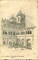 37129 Portugal, Stationery Card Serie A. Alcobaca Cloister Of The Monastery,cloître Du Monastère,kloster - Klöster