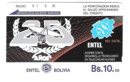 Bolivia - TE-06 25th Of Red Digital Bs.10 - Brown Backside - Satellitenschüssel -Satellite - Mint - Bolivien