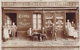 DEVILLE Les ROUEN  CARTE PHOTO  Devanture De Commerce Sur Le CAFE DE LA MAIRIE * EPICERIE (Plan Animé ) - France