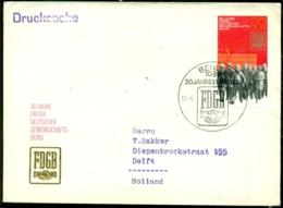DDR 1975 FDC 30 Jahre Freier Deutscher Gewerkschaftsbund - FDC: Enveloppes