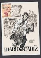 3.- ESPAÑA 2003 TARJETA MAXIMA - DIARIOS CENTENARIOS - DIARIO DE CADIZ - PERIODICOS - Tarjetas Máxima