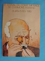 FESTIVAL DE CLERMONT-FERRAND.LE COURT METRAGE.1983 - Plakate Auf Karten
