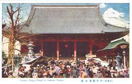 POSTAL   TOKYO  -JAPON  -GREATER TOKYO-CHAPEL OF ASAKUSA TEMPLE  (GRAN TOKYIO-CAPILLA DEL TEMPLO DE ASAKUSA) - Tokyo
