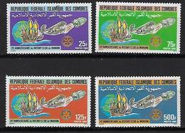 """Comores YT 431 à 434 """" Rotary Club """" 1985 Neuf** - Comores (1975-...)"""