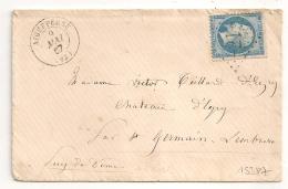 GC 21 AIGUEPERSE Puy De Dome Pour St Germain Lembron. PASSE 2565 Au Verso. - Marcophilie (Lettres)