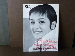 Photo Carte  Dédicacée  Originale Suzanne Gabriello - Chanteurs & Musiciens
