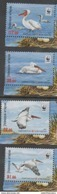 KYRGYZSTAN, 2017,MNH, WWF, BIRDS, PELICANS, 4v - W.W.F.