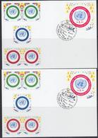 United Nations Vienna 2001 50Y Uno 2v 2 Maximum Cards (40126))))) - Maximumkaarten