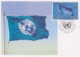 United Nations Vienna 2001 Friedensnobelpreis/ UNO Flag 1v Maximum Card (40127) - Maximumkaarten