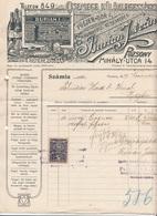1919 RECHNUNG D.Fa. GRIOTTE Nimburg U. Schandau, 20 + 30 H Stempelmarken, Sehr Schönes Lithographisches Firmenlogo, ... - Invoices & Commercial Documents