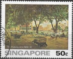 SINGAPORE 1976 Paintings Of Old Singapore - 50c - The Padang FU - Singapour (1959-...)