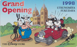 Télécarte Japon / 110-197545 - DISNEY STORE GO - MICKEY MINNIE Vache Cow - FUKUDAYA 1998 - Japan Phonecard / 4000 EX - Disney