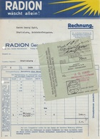 1935 RECHNUNG D.Fa. RADION, Bratislava, Mit Zahlschein, A3 Format, Gefaltet, Gelocht - Invoices & Commercial Documents