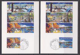 UNO Geneva 2003 Année Internationale De L'eau Douce 2v 2 Maxicards (40129) - Maximumkaarten