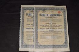 2 Obligation 500 Frs 5 % Laminoirs Aciéries Hauts Fourneaux Tôleries De Konstantinowka Donetz 1916 (3) - Russia