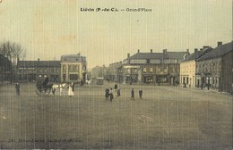 LIEVIN GRAND'PLACE CARTE TOILEE 62 - Lievin