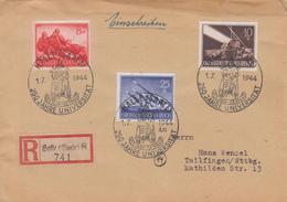 Enveloppe  Recommandée  ALLEMAGNE   Oblitération  :  250éme  Anniversaire  Université  De  HALLE  1944 - Germania