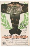 ESPAGNE -TARJETA POSTAL DE CAMPANA - Homenaje A La Gloriosa AVIACION REPUBLICANA - 9.12.1938 - 1931-50 Lettres