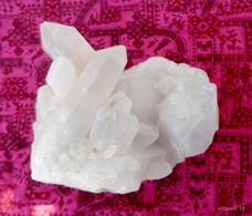 Quartz Laiteux Avec Pointes -14 X 10 Cm - Hauteur 11 Cm - Minerals