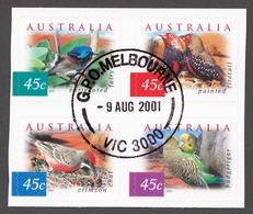 Australia 2001 Mi# 2070-73 BA (CTO) DEFINITIVES, BIRDS - Usati