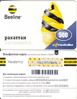 KAZAKHSTAN - K Mobile/Beeline Prepaid Card 500 KZT(large Barcode), Used - Kazakhstan
