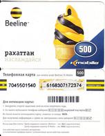 KAZAKHSTAN - K Mobile/Beeline Prepaid Card 500 KZT(small Barcode), Used - Kasachstan