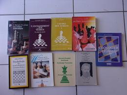 Lot 10 Livres Sur Le Jeu D' échecs Alfred Binet, Alexandre Koblentz, John Cox, Caro Kahn, Gambit Dame... - Palour Games