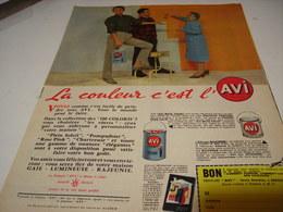 ANCIENNE PUBLICITE LA COULEUR C EST L AVI 1955 - Publicités