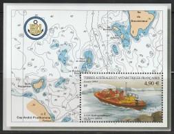 T.A.A.F - BLOC N°10 ** (2004) Levés Hydrographiques - Blocs-feuillets