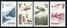POLAND 1976-78 Airmail Set Of 4 MNH / **.  SG 2424-25b; Michel2437-38, 2484, 2540 - 1944-.... Republic