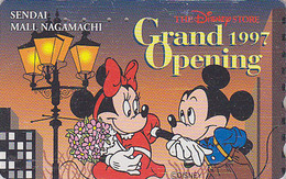 Télécarte Japon / 110-189914 - DISNEY STORE GO - MICKEY & MINNIE - SENDAI 1997 - Japan Phonecard - Disney
